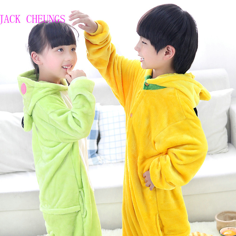 b219359642e5 Kgurumi Boy girl frog animal onesies pajamas kids dog Anime Costume ...