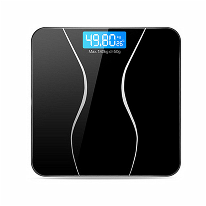 New 180KG Electronic LCD Digital Bathroom Body Weight Scale With Battery Smart Home Futural Digital Drop Shipping AUGG19
