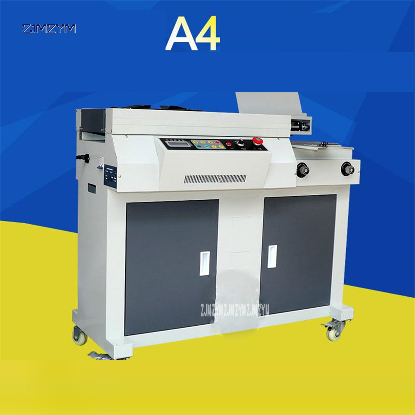 A4 automática pegamento encuadernador pegamento máquina de encuadernación 310mm 55mm perfecto carpeta Archivo financiero eléctrico binder folleto 1000 W de potencia