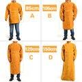 XL/XXL прочная кожаная сварная длинная куртка фартук защитная одежда сварщик аргон дуговая сварка Рабочая одежда