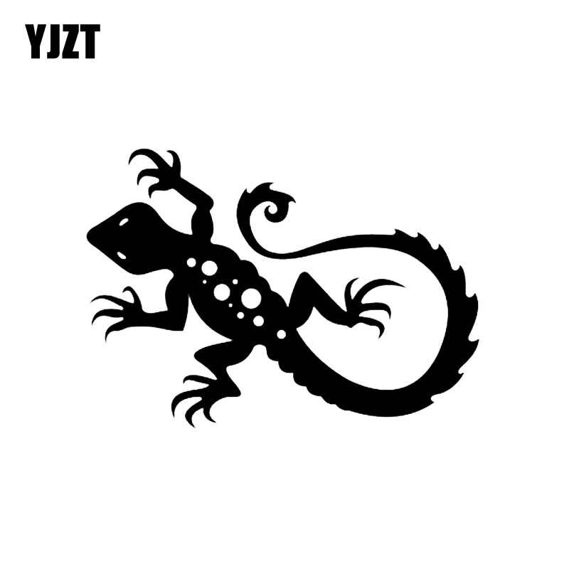 YJZT 13 9*10CM Funny Reptile Bearded Dragon Decor Car Stickers Vinyl  Accessories C12-1156