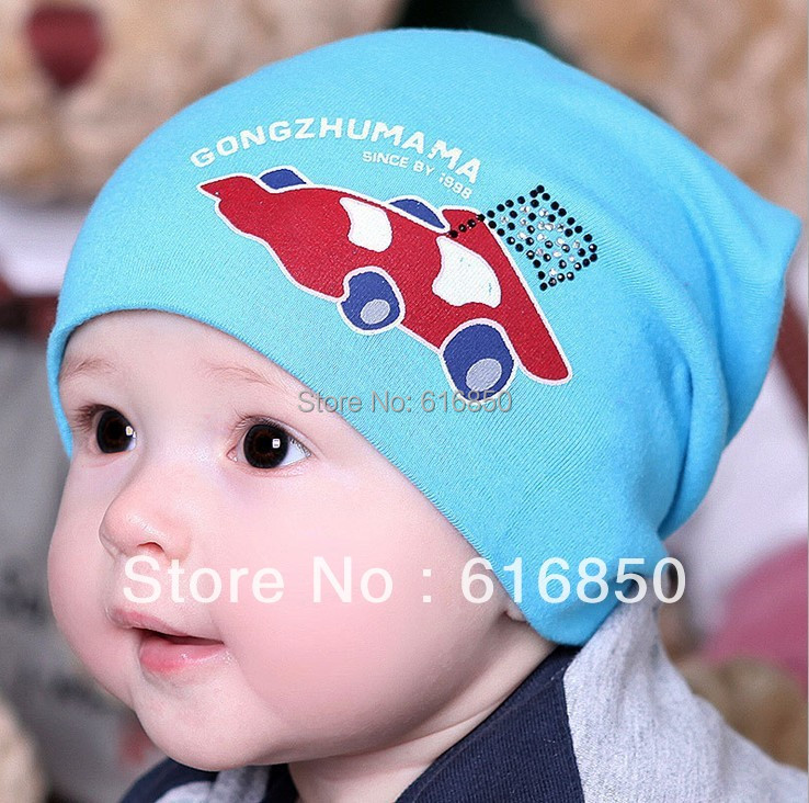 Korean Trendy Baby Knitted Cotton Hat Newborn Hats Racing Car For Baby Boy Infant  Summer Hats Causal Outdoor Sun Hats b987847b7eb