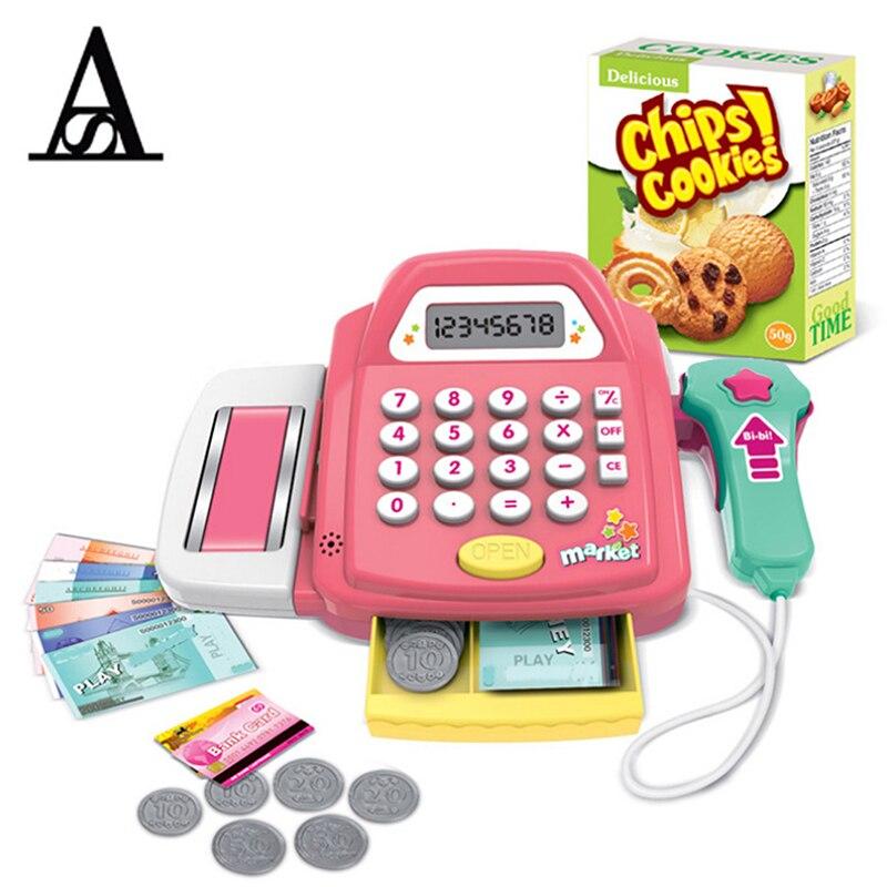 Aitesen Funny Pretend Play Furniture Toys Cash Register Cashier Children Early E