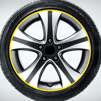 Trendy Modified Decorative Decals For Car Tire Rim Paste Wheel Reflector image