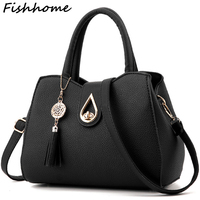 Women Tassel Pendant Handbag Water Droplets Sequined Messenger Bag High Capacity Shell Shoulder Bag Female Brand