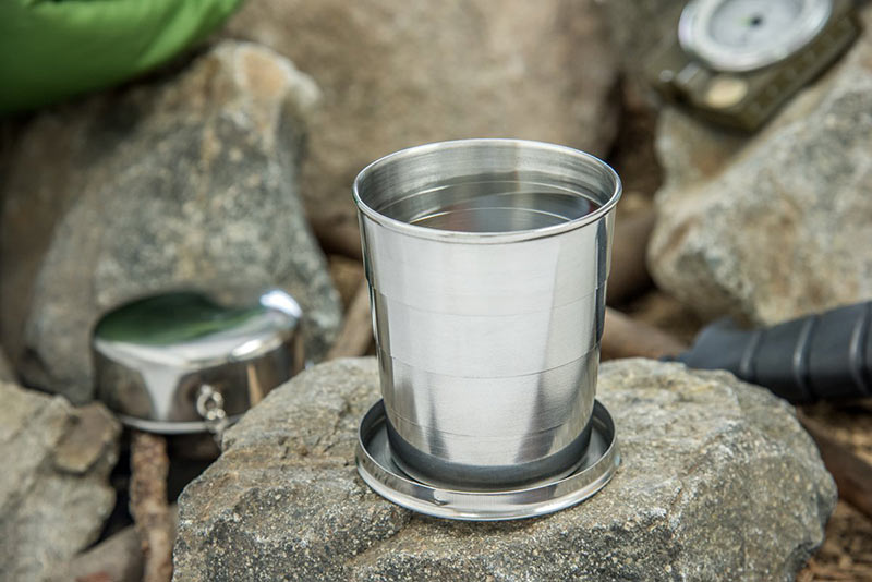 Mini Stainless Steel Portable Outdoor Travel Camping Folding Collapsible Cup Telescopic Mug With Keychain 75Ml 150Ml 240Ml (32)