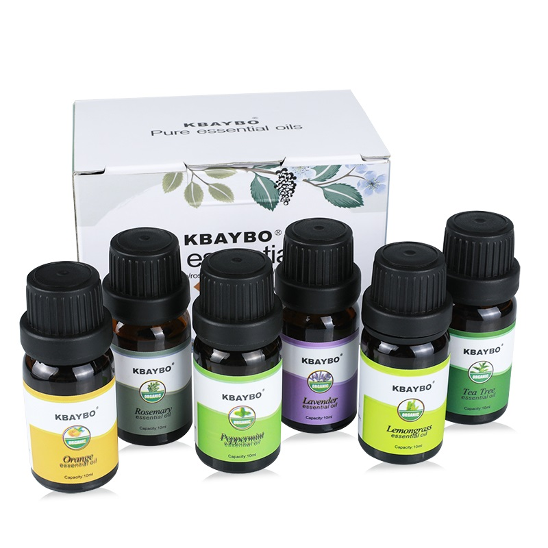Essential Oil for Diffuser, Aromatherapy Oil Humidifier 6 Kinds Fragrance of Lavender, Tea Tree, Rosemary, Lemongrass, Orange essential oils with aromatic aromatherapy oil 6 kinds fragrance of lavender tea tree lemongrass essential oil for diffuser