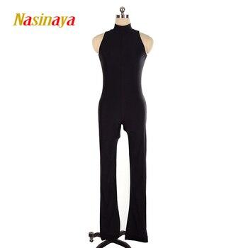 Nasinaya комбинезон-трико для фигурного катания для девочек, детский цельный костюм для фигурного катания, 9