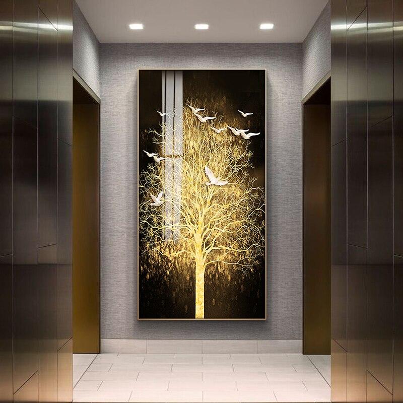 Скандинавский Картина на холсте, абстрактный, золотой, художественный, настенный, с принтом, для спальни, столовой, домашний декор, без рамки...