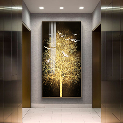 Nordic Canvas Painting Abstract Living Room Golden Art Wall Pictures Print Bedroom Dinning Room Home Decor Unframed Poster Art