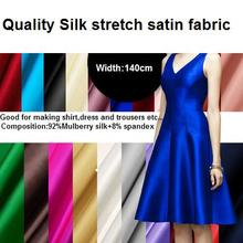 Silk stretch satin fabric Hanfu cheongsam dress costume silk elastic cloth