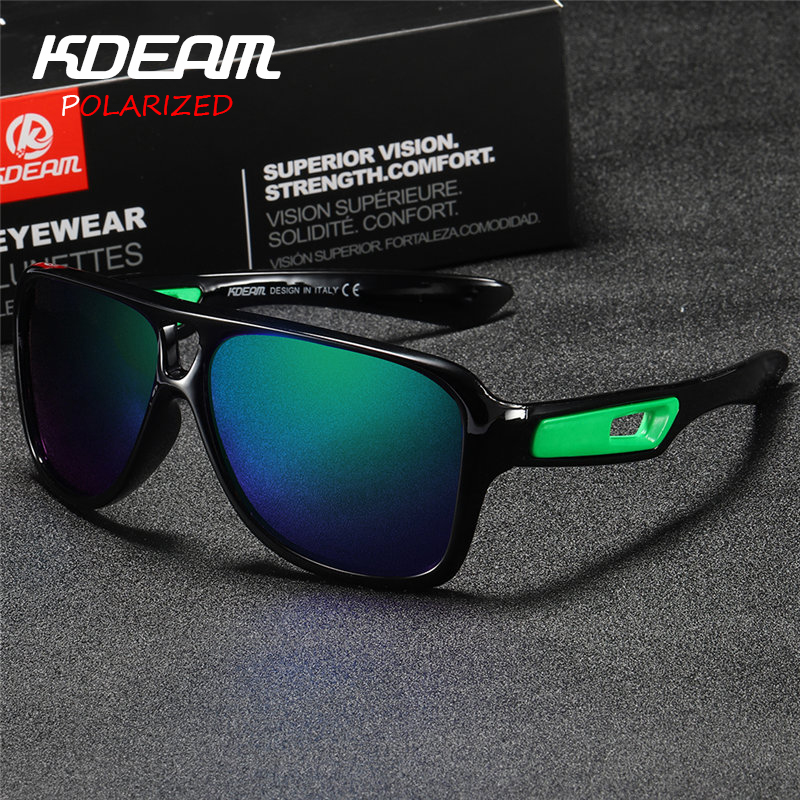 41e1ad9a1b6121 KDEAM 2018 NEW Men Sport Sunglasses Polarized oculos de sol Women  Reflective Coating Lunettes UV400 zonnebril With Case KD5447