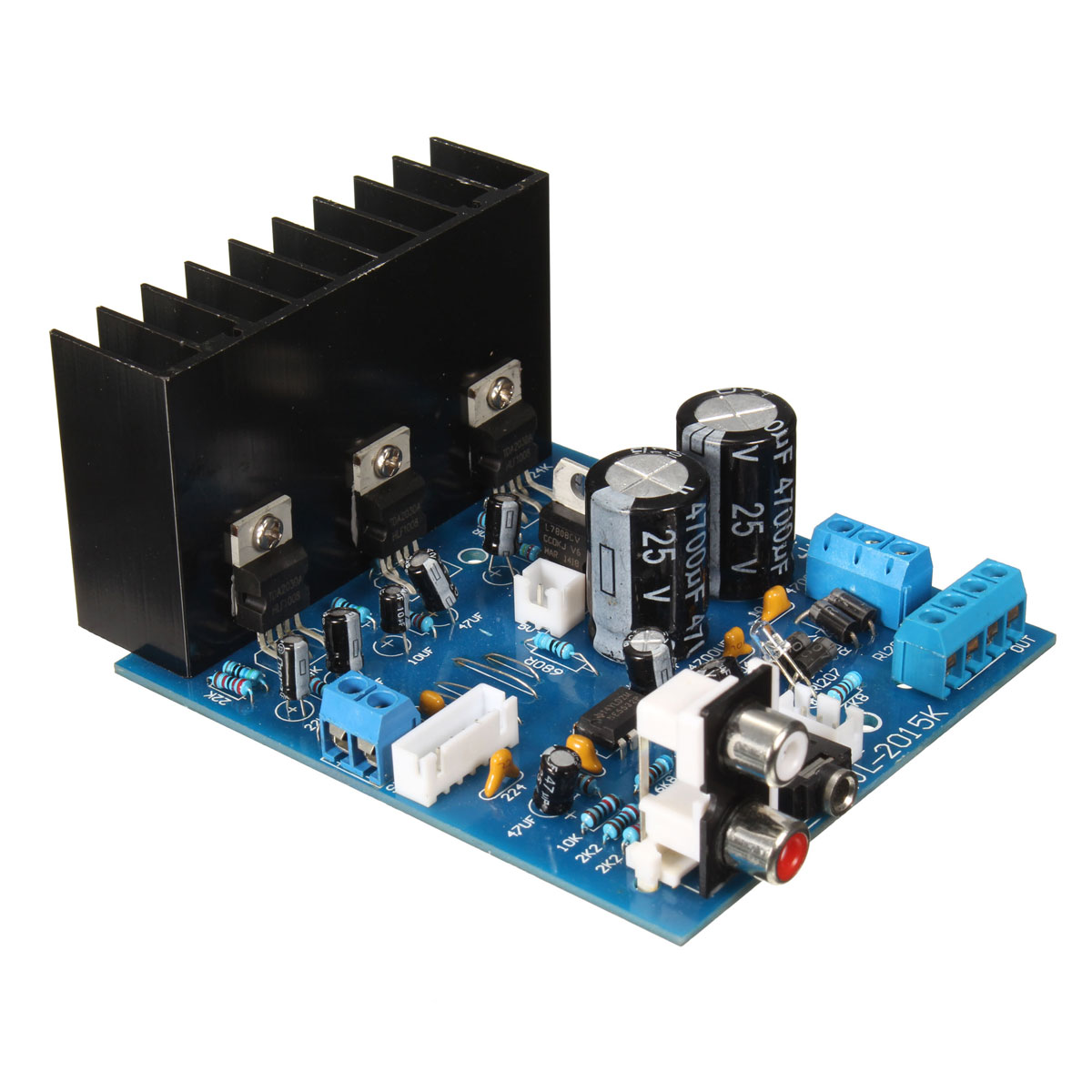 New Arrival 1Pcs TDA2030A 2.1 Subwoofer Amplifier Board AC 12V 3-Channel Electronics Module 18W +18 W with 6Pin cable image