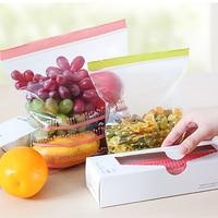 50PCS/Set Storage Zipper Bag Fresh Food Snack Clip Grip Coffee Plastic Clear Ziplock Reclosable Clothing Travel