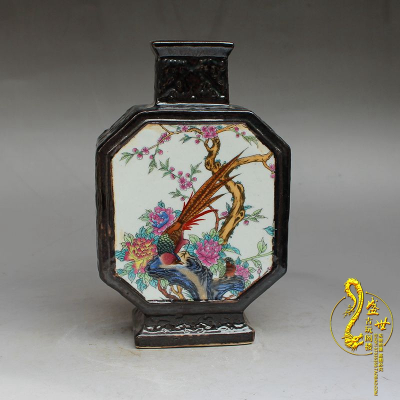nueva antique porcelana jingdezhen republicano pastel jarrones de flores y de aves de imitacin clsica decoracin