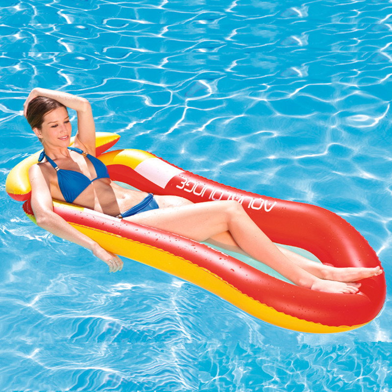 Inflatable Floating Row Chair Lounge Pool Floats Beach Single Air Mattress for Swimming Water Sports Floating Sleeping Bed Chair (3)