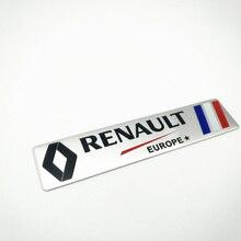 for Renault Metal Wheat logo car emblem Aluminum paste Fender Side Sticker for Koleos KADJAR Fluence TALISMAN MEGANE fs 7701039565 7702127213 for renault megane