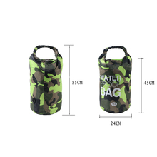 15L Camouflage Outdoor Drift fishing Bucket bag Kit Rafting Camping Hiking Swimming Upstream Waterproof Dry Bags