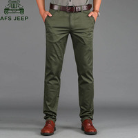 AFS JEEP Casual Men S Pants Spring Summer Thin Trousers Slim Fit 97 Cotton Solid Straight