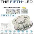 Envío gratis 3 W luz del pasillo, iluminación del vestíbulo, lámpara cristalina del techo, con estilo europeo 90-264Vac luz del pórtico CC-001