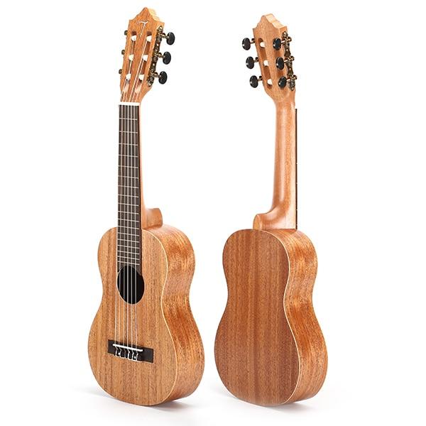 28 Inch Guitalele Mahogany Rose Wood With Gig Bag Classic Guitar 12mm waterproof soprano concert ukulele bag case backpack 23 24 26 inch ukelele beige mini guitar accessories gig pu leather