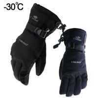 Snow Head Ski Gloves Waterproof 30C Winter Warm Snowboard Gloves Men Women Motocross Windproof Cycling Motorcycle