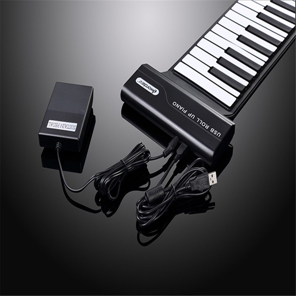 iword hand roll piano silicone flexible roll up piano 88 keys professional midi 3d keyboard. Black Bedroom Furniture Sets. Home Design Ideas
