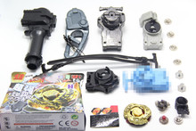 L-Drago Destructor Destroy Gold Armored Beyblade Starter Set w / Launcher + 4pc Different Launcher + 1 Hand + 1 Hook + 6 Meta Tip