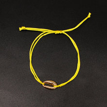 Golden Shell Beach Foot Chain Anklets for Women Fashion Handwoven Yellow Rope Adjustable Ankle Bracelets K214