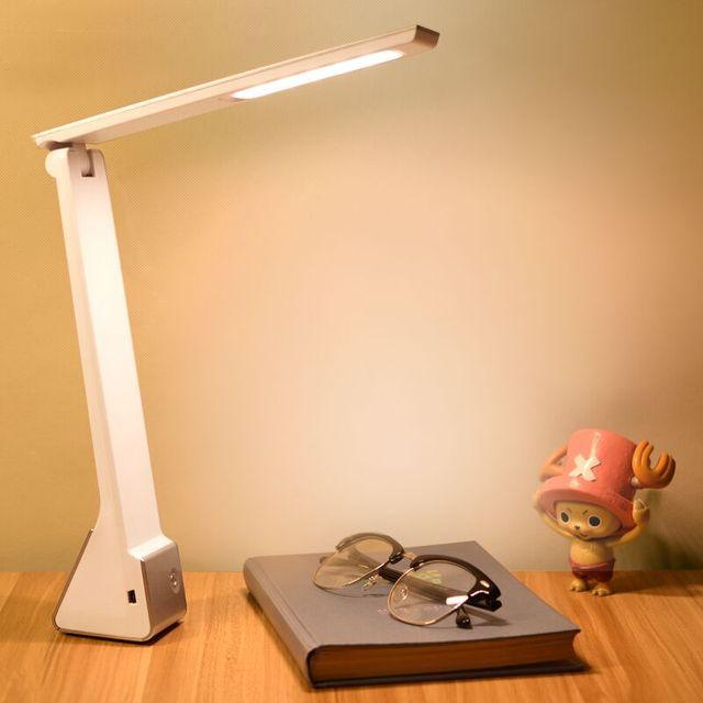 LED usb recarregável lâmpada de mesa luz suave eyecare leitura led lâmpadas de mesa dobrável portátil dobrável lâmpada lampara escritorio