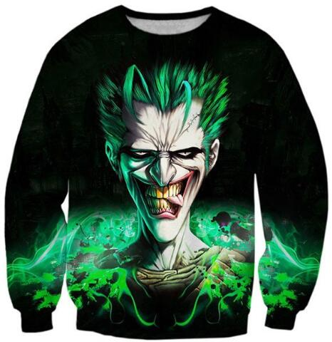 Joker Paparazzi Sweatshirt Casual Suicide Squad Crewneck Joker Vs Batman Jumper Hoodies Hipster Outfits Unisex Tops Oversize