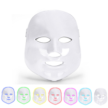 7 Colors Led Facial Mask Facial Whitening Tighten Photon Therapy Rejuvenation Wrinkle Acne Removal Face Beauty Led Therapy Mask