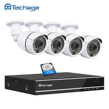 Techage 5 IN 1 8CH 4CH 1080P Security AHD DVR NVR CCTV System 2.0MP 3000TVL Weatherproof Outdoor Camera AHD-H Surveillance Kit
