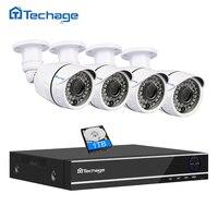 Techage 5 IN 1 8CH 4CH 1080P Security AHD DVR NVR CCTV System 2 0MP 3000TVL