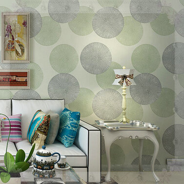 Modern korean circle wallpaper bedroom to the living room for Ikea carta da parati