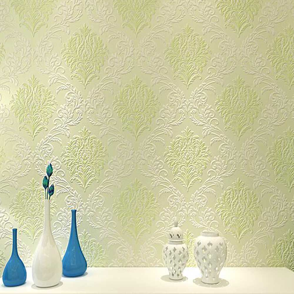 Europe Embossed Damask Wallpapers Photo Murals TV Backdrop Wall Art ...