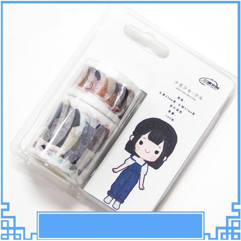 Stickers scrapbooking Cartoon girls boys dress up DIY diary handbook kawaii Label bullet journal sticker pegatinas for children