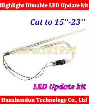 20pcs Universal Highlight Dimable LED Backlight Lamps Update kit Adjustable LED Light For LCD Monitor 2 LED Strips Free Shipping