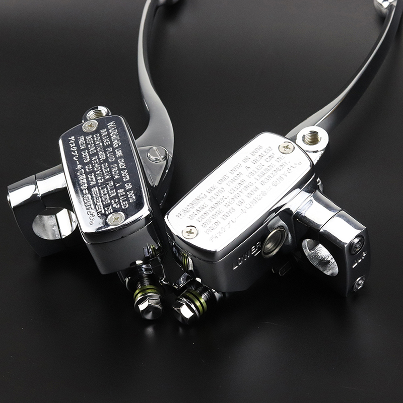 2pcs Chrome Brake Master Cylinder Clutch Levers Accessories Parts For S'uzuki Intruder 800/1400/ 1500 Cylinder Clutch Levers