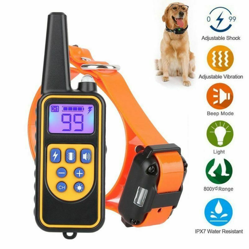 Equipamentos de Controle Remoto 800 Metros Colar Do Treinamento Do Cão Impermeável IP6X Display LCD Collar Pet Dog Training Choque/Vibração/ som