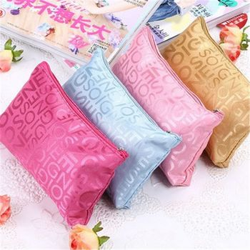Women Makeup Bags Letter Printed Portable Cute Multifunction Beauty Zipper Travel Cosmetic Bag Pouch Toiletry Organizer Case Kit Cosmetic Bags