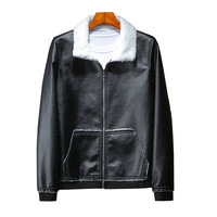 8XL 7XL 6XL Autumn Mens Motorcycle Leather Jackets plus size male Winter Warm Wool Fur Collar Male Leather Jacket Jaqueta