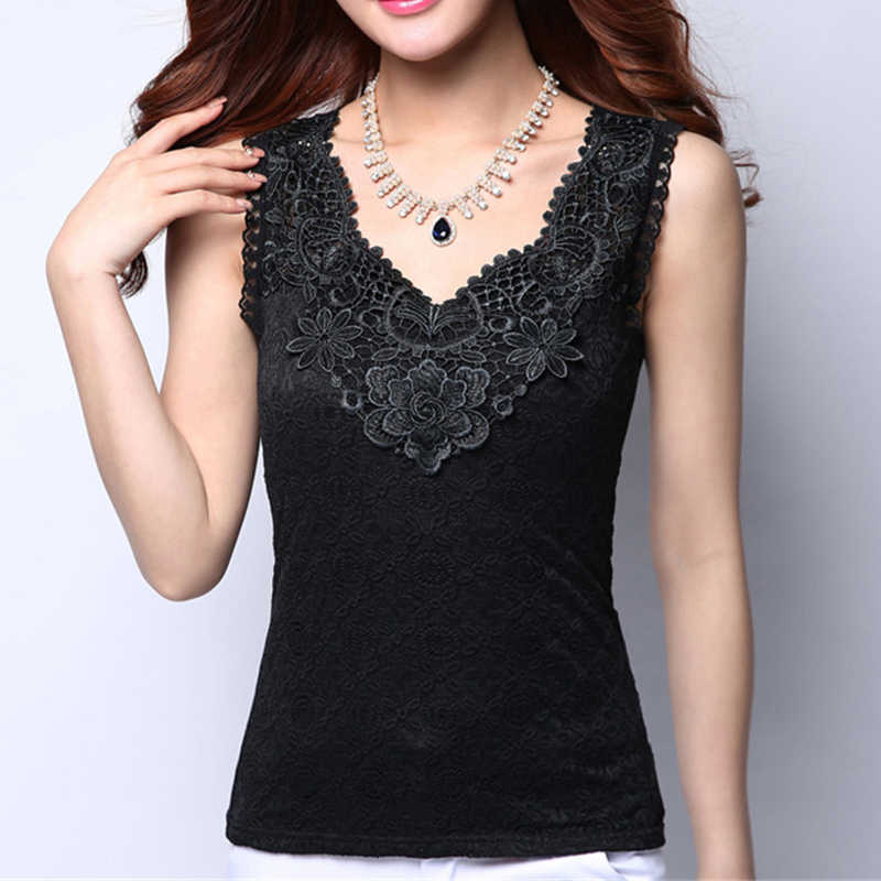 Womens Sexy Blouse Shirt Plus Size Summer Elegant Sleeveless White Tops and Blouses Crochet Shirt For Women Blusas Vest Camisa