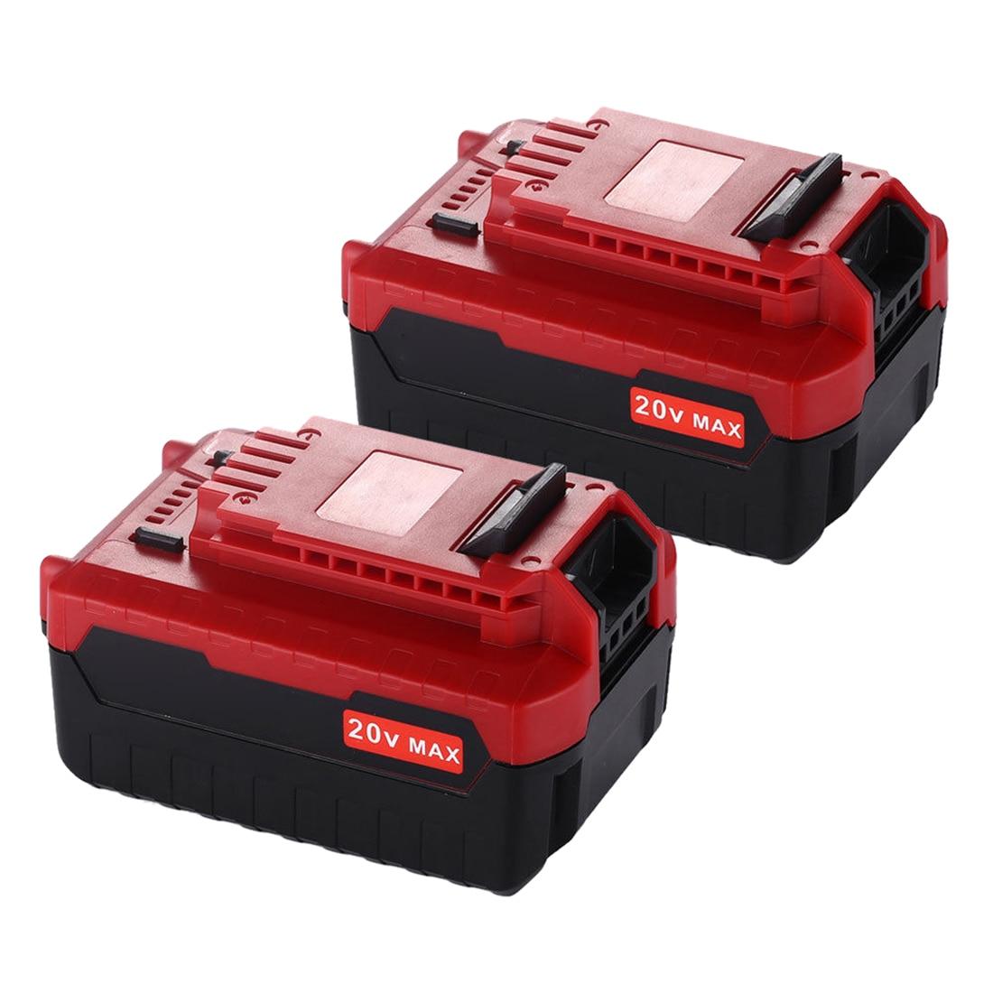 Топ предложения 1 пара 20 В Max 5.0Ah литий-ионный Батарея для Портер-Кабель PCC685L, PCC685LP, PCC680L, PCC682L, PCCK602L2, PCC600, PCC640