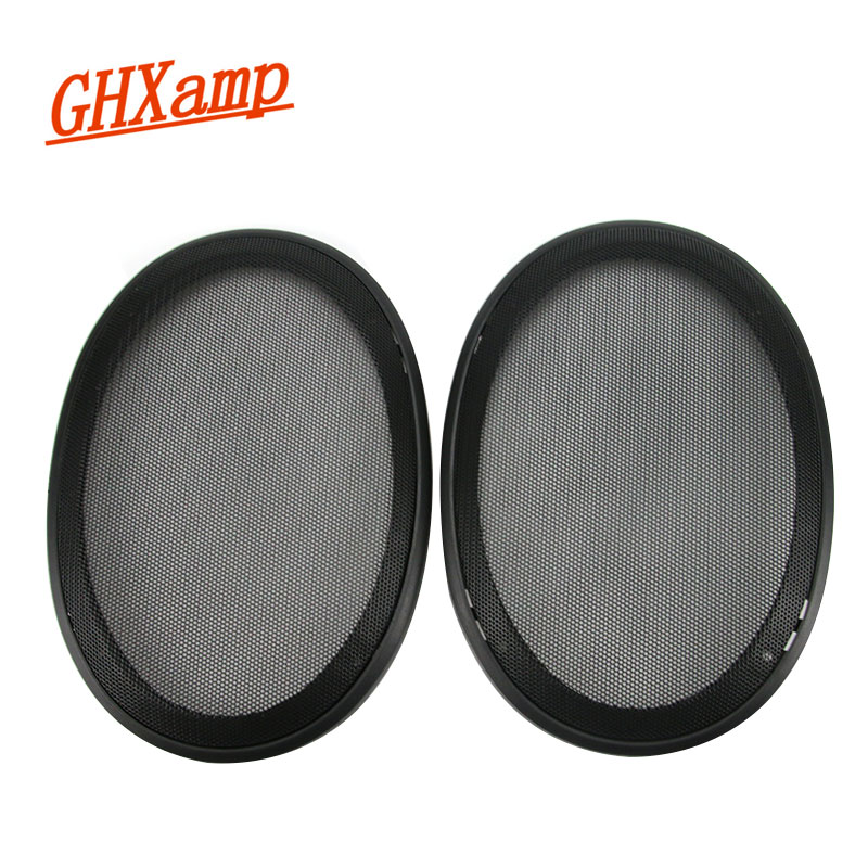 GHXAMP 2PCS 6*9 Inch Car Speaker Mesh Enclosure Net Cover Protective Grill Mesh Plastic Frame + Metal Cover