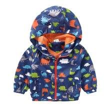 Spring Boy Jackets Baby Boys Outerwear Coats Dinosaur Hooded