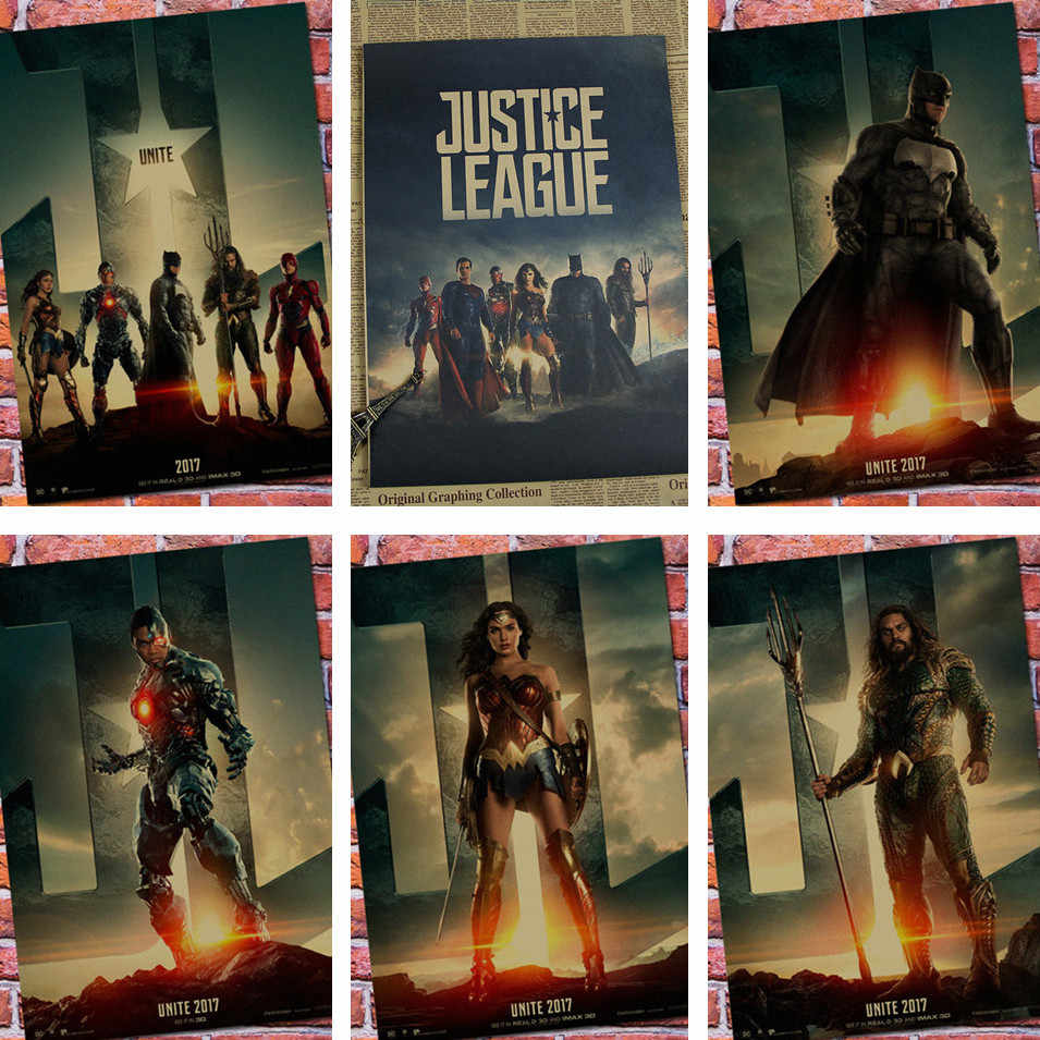 8715d6e405db Vintage Paper Retro anime poster - Wonder Woman DC Justice League -Posters  cudi poster