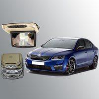BigBigRoad для Skoda Octavia, устанавливаемый на крыше автомобиля установлен в автомобиль монитор Цифровой Экран с HDMI USB FM TV игровая ИК пульт дистанцио
