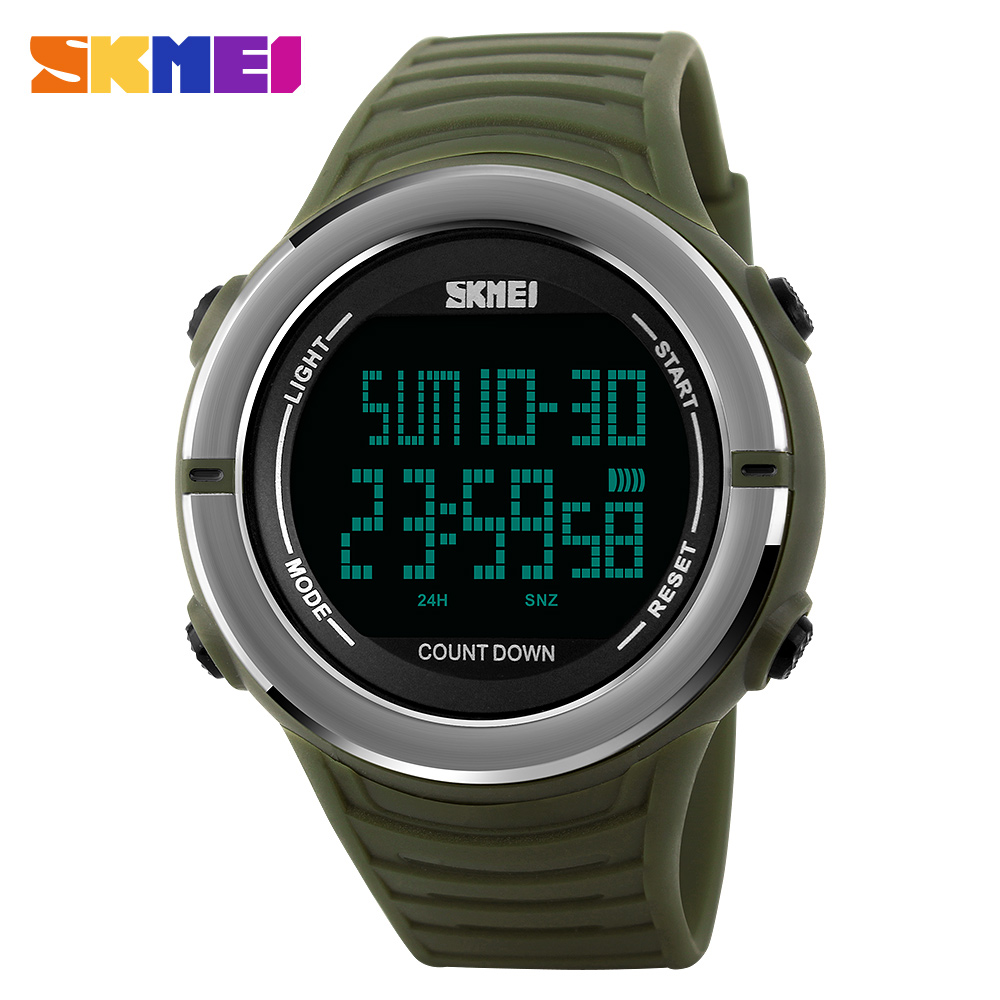 SKMEI Mens Watches Brand Luxury Sports Watches Men Clock Male Digital LED Outdoor Military Waterproof Watch Relogio Masculino