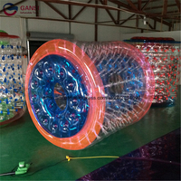 Outdoor 1.0mm PVC inflatable water roller ball hot sale summer 2.4m diameter air human hamster ball for sale for water park